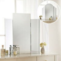 Modern 3 Piece Freestanding Bedroom Dressing Table Make-up Mirror 56x60cm NEW