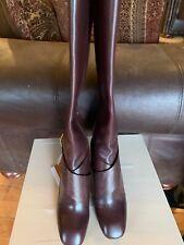 NIB New Louis Vuitton RARE LV  Leather Tall Boots w/ Heels 40 LV