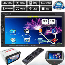 """7"""" 2DIN Touch Screen Bluetooth Car CD/DVD/USB/SD/MP3 Audio Player FM AUX Stereo"""