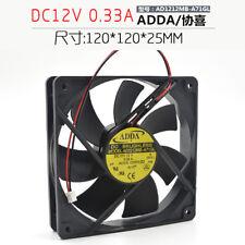 for ADDA 12cm 120X120X25MM 12v 0.33A AD1212MB-A71GL chassis mute power fan