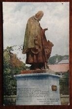 Vintage Lincoln Postcard - Tennyson Statue - 1907