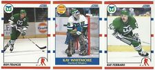 11 1990-91 SCORE HOCKEY HARTFORD WHALERS CARDS (FRANCIS/WHITMORE RC+++)