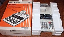 Sharp VX-2652 2 Color Printing Desk Calculator 12 digit