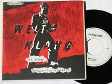 "Weltklang VEB Heimat Hoffnung Sehnsucht 500 cps. exil-System NM 7"" Vinyl Single"