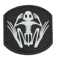 FROG SKELETON US NAVY SEAL PVC TAC BADGE MORALE SWAT GLOW VELCRO® BRAND PATCH
