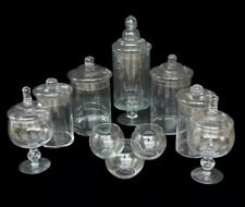 10 x Large Apothecary Lolly Candy Buffet Table Party Glass Jars & Bowls Assorted