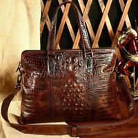 Men Crocodile Genuine Leather Shoulder Messenger Briefcase Handbag Laptop bag sz