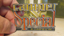 1978-82 Chevy Camper Special Truck Emblem #331566 #Z1803  GVW 8,200 NICE COND.