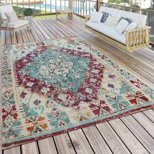 In- & Outdoor-Teppich Für Balkon U. Terrasse M. Orient-Muster, Kariert In Lila