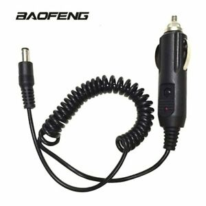 12V DC Car Lighter Slot Charger Cable For BaoFeng UV-5R UV-9R PLUS Walkie Talkie