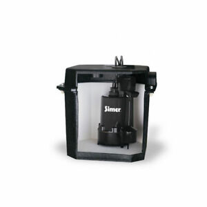 Simer 2925B-02 Self Contained Above Floor Under Sink Laundry Sink Sump Pump