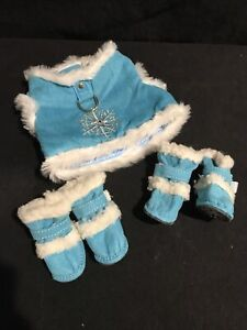 Blue Snowflake Dog Outfit