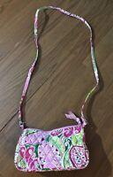 Vera Bradley Pinwheel Pink Retired Pattern Small Crossbody Purse Shoulder Bag