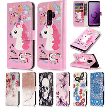 For Samsung Galaxy S9/S8/Note 8 Shockproof Pattern Wallet Card Stand Case Cover