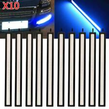 10Pcs 12V LED Strip DRL Daytime Running Lights Fog COB Car Lamp Blue Day Driving