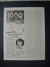 1934 Sinclair P.D. Bug Spray Killer Pesticide 1,000 Flies Vintage Print Ad 207