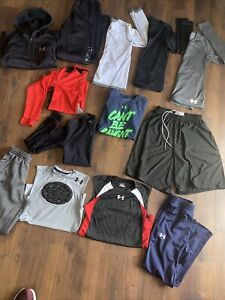 Under Armour Boys Clothing YMD 10-12 Shirt Shorts Pants Compression 13 Pieces