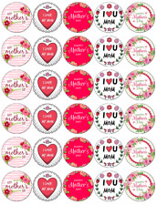Mothers Day Edible Cupcake Toppers Edible Wafer Paper Fairy Cake Toppers