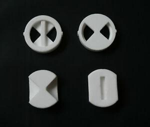 "Replacement ceramic disc inserts for 3/4"" BATH quarter turn tap valve cartridges"