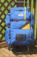 Vintage LARGE /XL Size Blue JANSPORT External Frame Backpack / Hiking/Travel USA