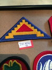 Authentic Us Army 7th Army Patch