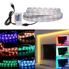 50CM-5M 5V 5050 RGB LED Strip Light Colour Changing USB TV PC Back Mood Lighting