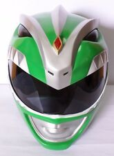 MIGHTY MORPHIN POWER RANGERS GREEN POWER RANGER HELMET COSTUME (w SILVER ACCENT)