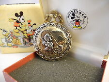 COLIBRI VERICHRON DISNEY MICKEY MOUSE POCKET WATCH NEW W/ SPECIAL TIN REDUCED