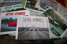 NINE ISSUES of ANTIQUE AUTOMOBILE MAGAZINE OF THE ANTIQUE AUTO CLUB AMERICA 80's