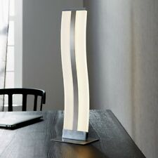 WOFI LED éclairage de table Louvre Nickel chrome verre acrylique interrupteur