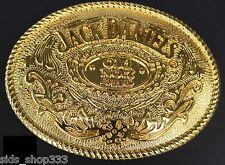 "Jack Daniels Gold color Old No.7 Belt Buckle Western Cowbow 4 X 3 1/8 """