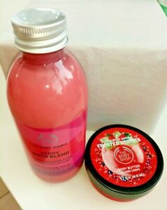 The Body Shop Berry Bath Blend250ml + Frosted Berries Body Butter 50ml