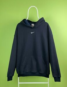 Vintage 90s Nike Travis Scott Hoodie Sweatshirt Center Swoosh Navy Size L