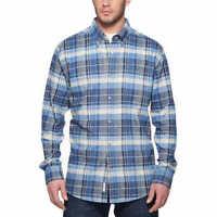 Weatherproof Vintage Men's  Long Sleeve Plaid Flannel Shirt