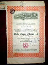 Mexicana de Petroleo La Territorial 1930 Share Certificate  VG