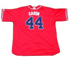 Majestic Stitched Atlanta Braves #44 Hank Aaron Jersey 4XL MLB Free Shipping