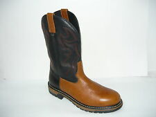Rocky Boots Branson Roper Brown Black Leather Western Men 11.5