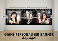 Personalised GIANT Large Happy Birthday Banner 18th 21st 30th 40th 50th N41