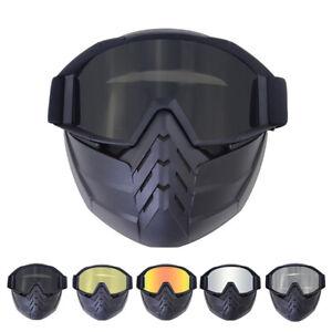 Cycling Bike Goggles MTB BMX Road Dirt Bike Glasses with Face Mask Race Eyewear