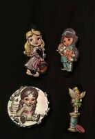 X4 Disney Animators series 2 Mystery Pin Badge 2020 Set Mulan Aurora Tinkerbell