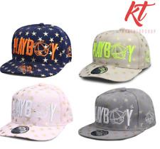 Konektopshop's Embroidery Flat Hip-Hop Snapback Cap - Light Pink