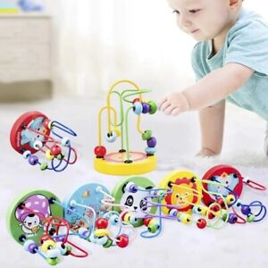 Early Educational wooden Puzzles kids play toys baby Boys Girls Kid Toy 6+ Month