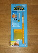 OLFA Art Cutter AK-1 Crafts Card Art cut Paper Card etc with 25 Spare KB Cutters
