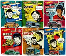 Hot Wheels Pop Culture 2014 STAR TREK Complete Set of 6 Cars - Case P ASSORTMENT
