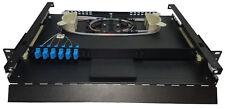 6 Fiber 1Ru Rack Mount w/ 6 Sc/Upc Simplex Adapters, Singlemode Pigtails & Tray