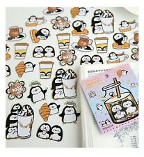 Penguin stickers Cute kawaii animals stickers flakes sack Japan stationery