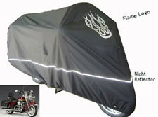 Fit Harley Fat Boy Motorcycle Cover w/Flame Logo. Indoor Outdoor Protection.New