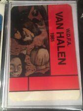 Van Halen Backstage Pass fair warning era