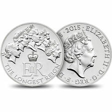 2015 £20 SILVER COIN LONGEST REIGN TWENTY POUNDS BRILLIANTLY UNCIRCULATED a