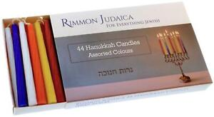 44 Colourful Hanukkah Candles Enough For 8 Nights Standard Size Chanukah Jewish